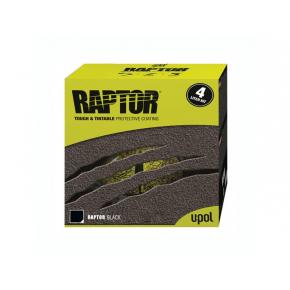 Защитное покрытие U-Pol Raptor RLB/S4 черное (комплект: 4 шт покрытия + 1л отвердитель)