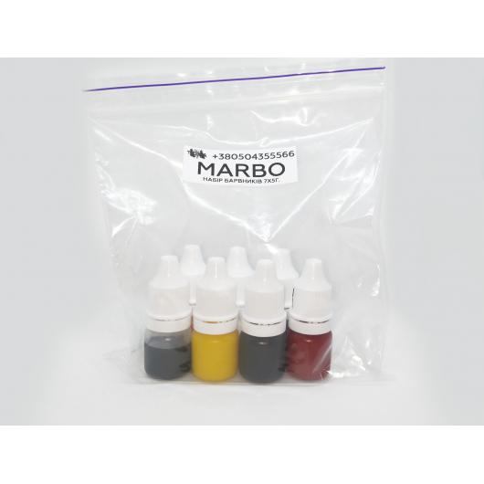 Набор красителей Marbo для смол и полиуретанов 7*5 мл - изображение 3 - интернет-магазин tricolor.com.ua