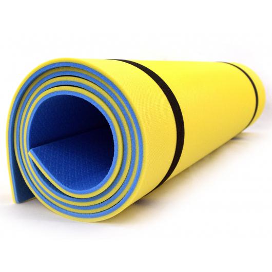 Коврик-каремат Izolon Tourist 8 180х60 сине-желтый - изображение 2 - интернет-магазин tricolor.com.ua