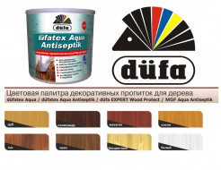 Декоративная пропитка-антисептик Dufatex Aqua Antiseptik Dufa (орех) - изображение 2 - интернет-магазин tricolor.com.ua