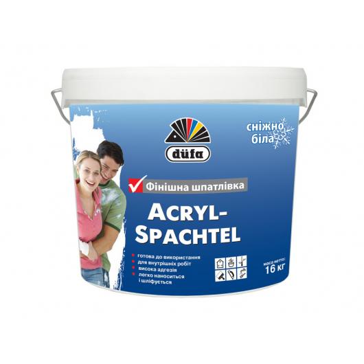 Белоснежная финишная шпаклевка Acryl Spachtel Dufa