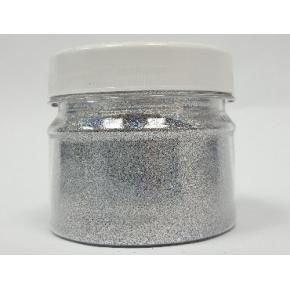 Глиттер GSI/0,2 мм (1/128) серебряный Tricolor