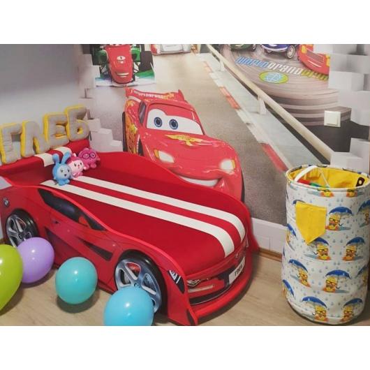 Кровать машина BMW Turbo красная 80х180 ДСП без подъемного механизма матрас Спорт красный - изображение 2 - интернет-магазин tricolor.com.ua
