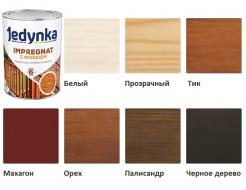 Пропитка-антисептик Jedynka Impregnat с воском Палисандр - изображение 2 - интернет-магазин tricolor.com.ua