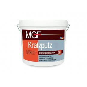 Штукатурка камешковая MGF Kratzputz 15 зерно 1,5 мм белая
