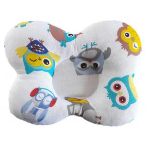 Подушка ортопедическая Viall Цветные совушки для новорожденных 25х30