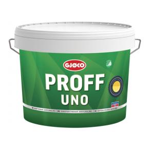 Краска латексная акриловая Gjoco Proff Uno 10 моющаяся полуглянцевая белая