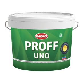 Краска латексная акриловая Gjoco Proff Uno 20 моющаяся глянцевая В полупрозрачная