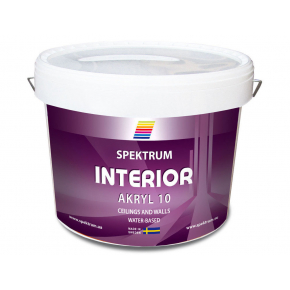 Краска акриловая Spektrum Interior 10 полуглянцевая белая