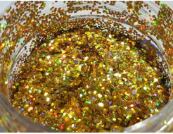 Купить Глиттер голографический GGGO/1,0 мм (1/24) золотой Tricolor - 8