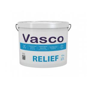 Водоразбавляемая структурная краска для фасада Vasco Relief белая матовая