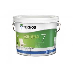 Водоразбавляемая матовая акрилатная краска для внутренних стен Teknos Biora 7 База3