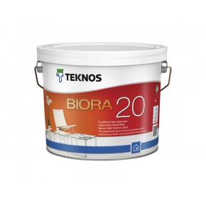 Водоразбавляемая полуматовая акрилатная дисперсионная краска для стен и потолков Teknos Biora 20 База3
