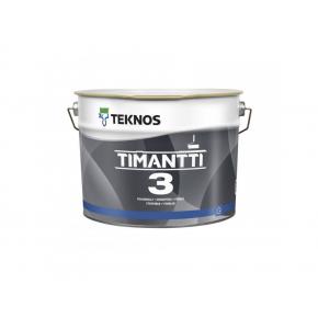 Водоразбавляемая матовая акрилатная грунтовочная краска для стен и потолков Teknos Timantti 3 белая