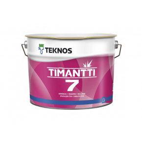 Водоразбавляемая дисперсионная акрилатная краска для стен и потолков Teknos Timantti 7 База3