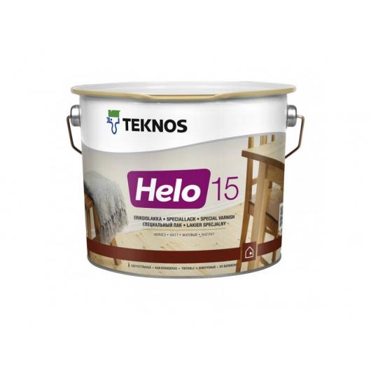 Уретано-алкидный лак для дерева Teknos Helo 15 матовый
