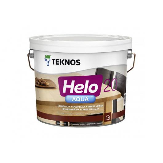 Водоразбавляемый специальный лак для дерева Teknos Helo Aqua 20 полуматовый