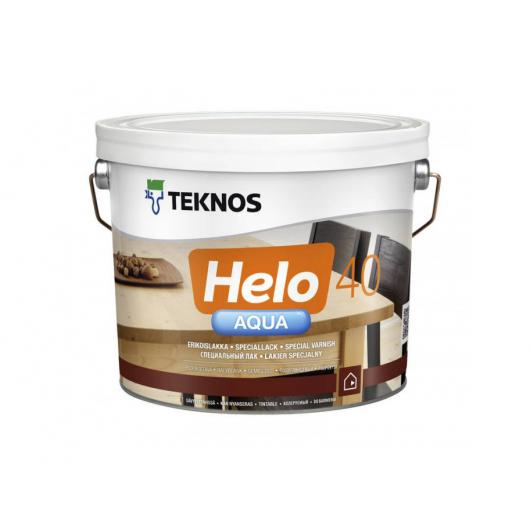 Водоразбавляемый специальный лак для дерева Teknos Helo Aqua 40 полуглянецевый