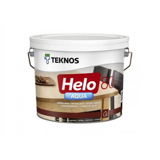 Водоразбавляемый специальный лак для дерева Teknos Helo Aqua 80 глянцевый