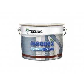 Водоразбавляемый кроющий акрилатно-алкидный антисептик для наружных работ Teknos Woodex Aqua Solid База3