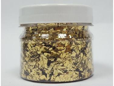 Глиттер рваный GLRG/1-5 мм золотой Tricolor