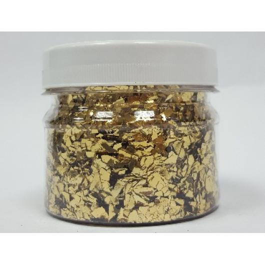 Глиттер рваный GLRG/1-5 мм золотой Tricolor - интернет-магазин tricolor.com.ua