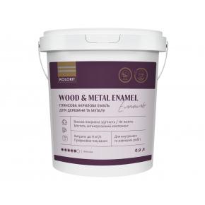 Акриловая эмаль Kolorit Wood and Metal Enamel для дерева и металла для наружных и внутренних работ глянцевая