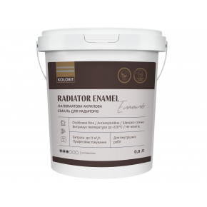 Эмаль акриловая радиаторная Kolorit Radiator Enamel белая полуматовая