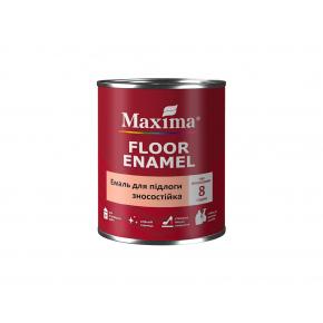 Эмаль для пола износостойкая Maxima глянцевая красно-коричневая