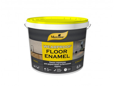 Эмаль акриловая для деревянных и бетонных полов Maxima полуматовая желто-коричневая