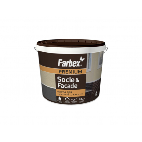Краска для цоколей и фасадов Socle&Facade Farbex матовая черная - интернет-магазин tricolor.com.ua