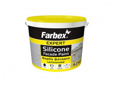 Краска фасадная силиконовая Farbex матовая белая