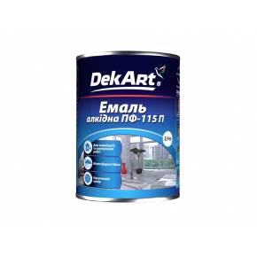 Эмаль алкидная ПФ-115П DekArt темно-серая - интернет-магазин tricolor.com.ua