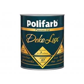 Алкидно-уретановая эмаль DekoLux для дерева и металла Polifarb глянцевая белая - интернет-магазин tricolor.com.ua