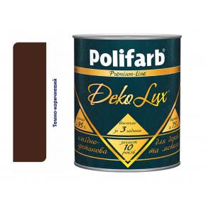 Алкидно-уретановая эмаль DekoLux для дерева и металла Polifarb глянцевая темно-коричневая - интернет-магазин tricolor.com.ua