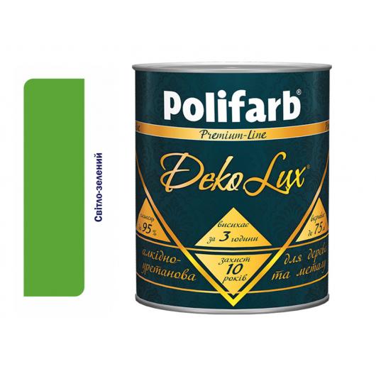 Алкидно-уретановая эмаль DekoLux для дерева и металла Polifarb глянцевая светло-зеленная - интернет-магазин tricolor.com.ua