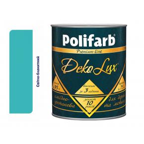 Алкидно-уретановая эмаль DekoLux для дерева и металла Polifarb глянцевая светло-голубая