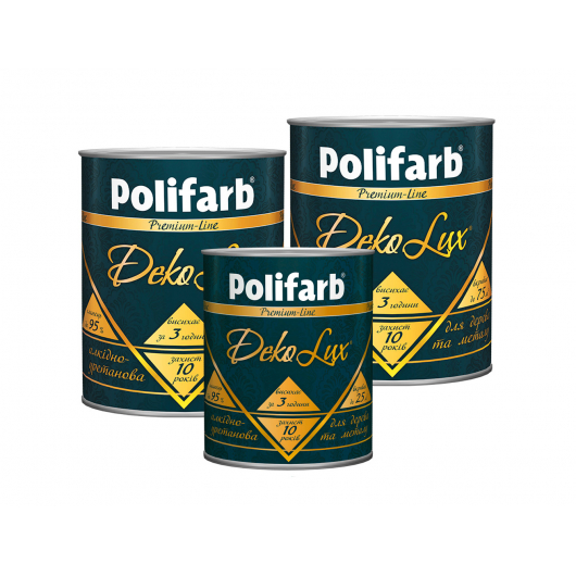 Алкидно-уретановая эмаль DekoLux для дерева и металла Polifarb глянцевая ярко-голубая - изображение 2 - интернет-магазин tricolor.com.ua