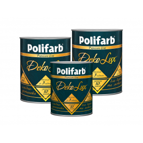 Алкидно-уретановая эмаль DekoLux для дерева и металла Polifarb глянцевая светло-серая - изображение 4 - интернет-магазин tricolor.com.ua