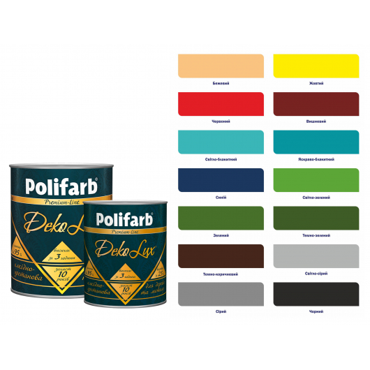 Алкидно-уретановая эмаль DekoLux для дерева и металла Polifarb глянцевая черная - изображение 4 - интернет-магазин tricolor.com.ua