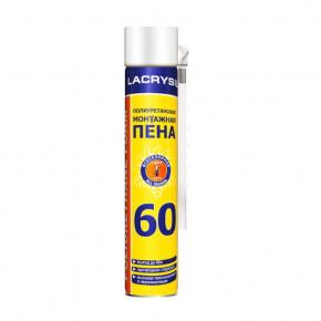 Пена монтажная бытовая Lacrysil 60 всесезонная 750 мл - интернет-магазин tricolor.com.ua