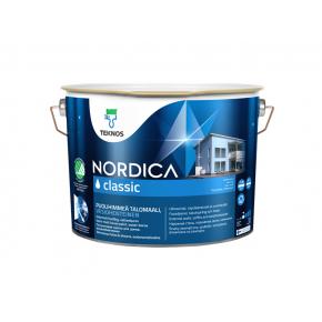Краска для домов на водной основе Teknos Nordica Classic полуматовая База 3