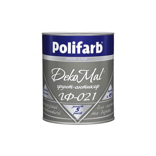 Антикоррозионная алкидная грунтовка для металла DekoMal ГФ-021 Polifarb матовая черная
