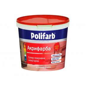 Акриловая краска для стен и потолков Polifarb Акрифарба матовая белая
