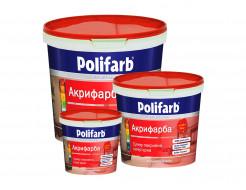 Акриловая краска для стен и потолков Polifarb Акрифарба матовая белая - изображение 2 - интернет-магазин tricolor.com.ua