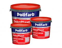Структурная краска для фасадов и интерьеров Polifarb DekoPlast белая - изображение 2 - интернет-магазин tricolor.com.ua
