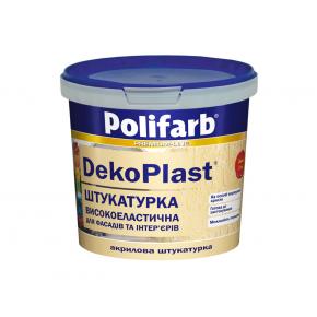 Высокоэластичная штукатурка для фасадов и интерьеров Polifarb DekoPlast Барашек (2 мм) белая