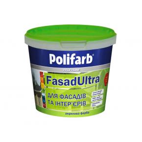 Высококачественная краска для фасадов и интерьеров Polifarb Фасадультра матовая белая - интернет-магазин tricolor.com.ua