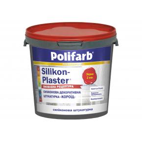 Силиконовая декоративная штукатурка Polifarb Silikon-Plaster Короед (2 мм) белая