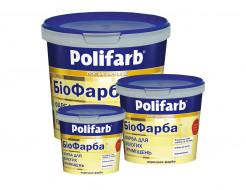 Краска для помещений с повышенной влажностью Polifarb Биофарба матовая белая - изображение 2 - интернет-магазин tricolor.com.ua
